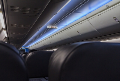 Plane overhead lighting